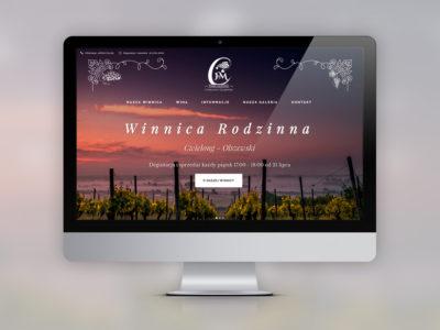 Strona internetowa Winnicy Rodzinnej
