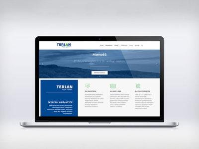 Realizacja strony www dla firmy Terlan