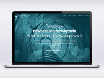 Realizacja strony www dla firmy New Flow